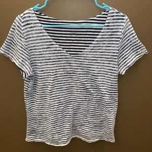 Aeropostale navy blue and white stripped shirt